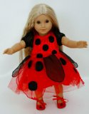 Dolls Ladybird Dress [ 14-18ins dolls and bears]